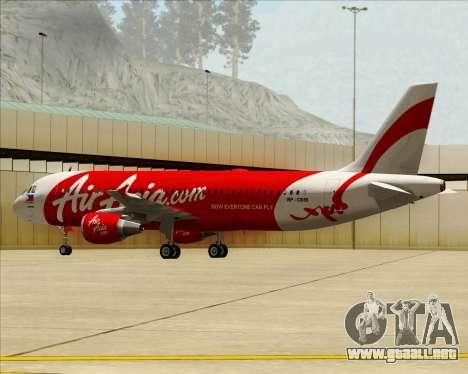 Airbus A320-200 Air Asia Philippines para visión interna GTA San Andreas