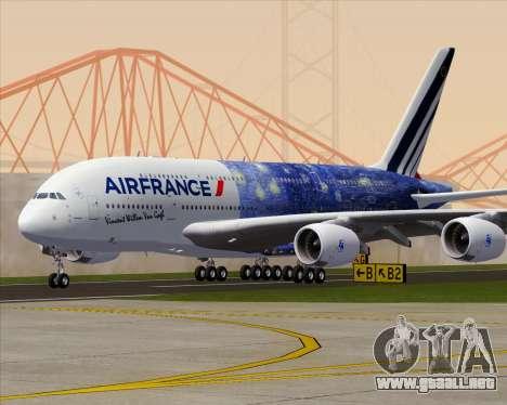 Airbus A380-800 Air France para vista inferior GTA San Andreas