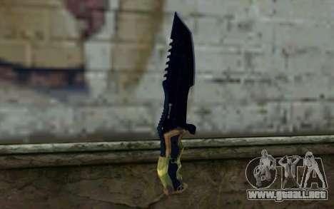 Knife from COD: Ghosts v1 para GTA San Andreas segunda pantalla