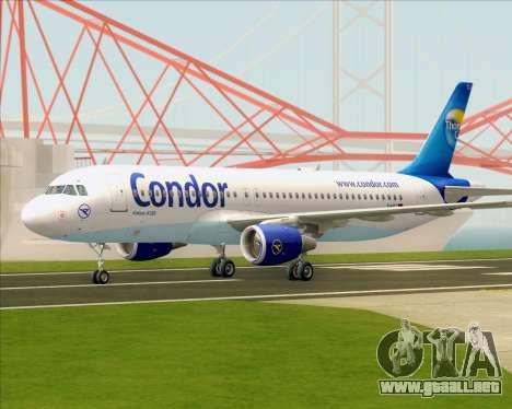 Airbus A320-200 Condor para GTA San Andreas vista posterior izquierda