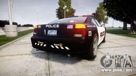 Bravado Buffalo Police LCPD para GTA 4 Vista posterior izquierda