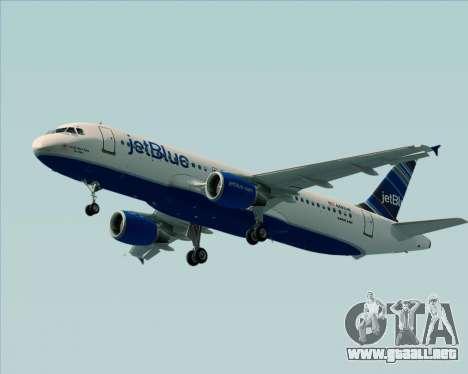 Airbus A320-200 JetBlue Airways para GTA San Andreas vista posterior izquierda