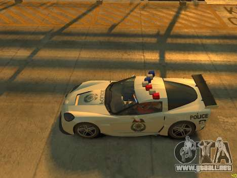 Chevrolet Corvette Z06 Police para GTA 4 vista interior