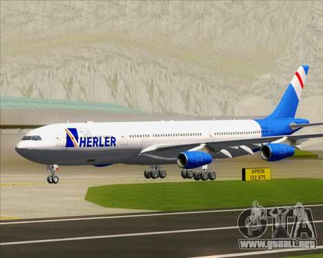 Airbus A340-300 Air Herler para GTA San Andreas left