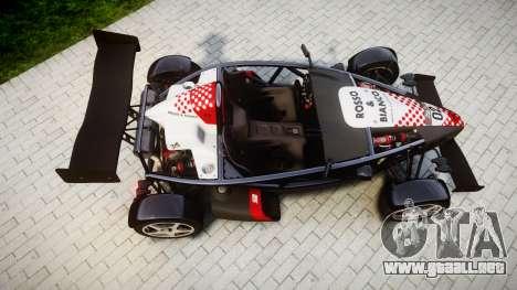 Ariel Atom V8 2010 [RIV] v1.1 Rosso & Bianco para GTA 4 visión correcta