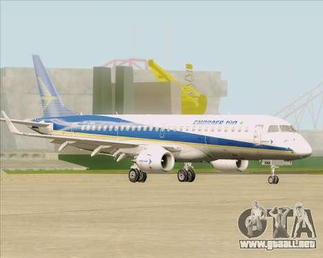 Embraer E-190-200LR House Livery para visión interna GTA San Andreas