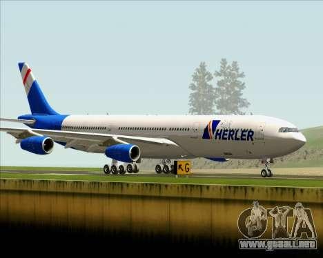 Airbus A340-300 Air Herler para visión interna GTA San Andreas