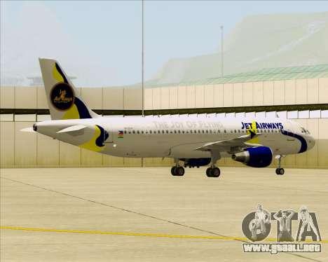 Airbus A320-200 Jet Airways para visión interna GTA San Andreas