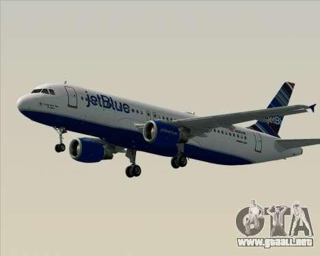 Airbus A320-200 JetBlue Airways para vista inferior GTA San Andreas