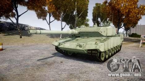 Leopard 2A7 DK Green para GTA 4