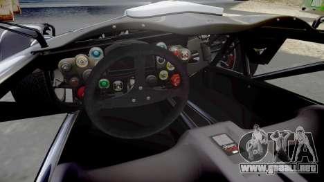 Ariel Atom V8 2010 [RIV] v1.1 Rosso & Bianco para GTA 4 vista interior