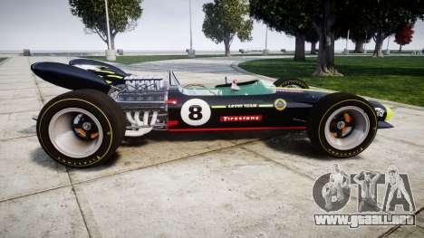 Lotus 49 1967 black para GTA 4 left