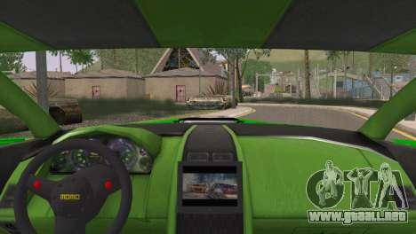 Aston Martin Vantage N400 para GTA San Andreas vista posterior izquierda