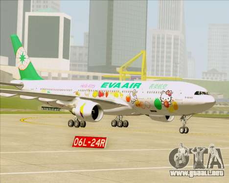 Airbus A330-200 EVA Air (Hello Kitty) para las ruedas de GTA San Andreas