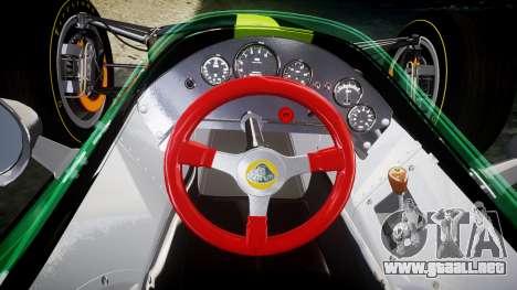 Lotus 49 1967 black para GTA 4 vista hacia atrás