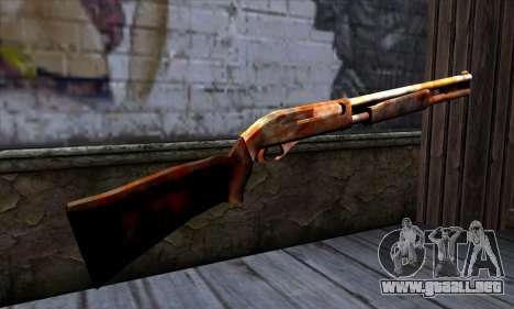 Chromegun v2 Rusty para GTA San Andreas segunda pantalla