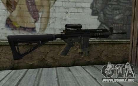 M4A1 from COD Modern Warfare 3 v2 para GTA San Andreas segunda pantalla