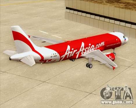 Airbus A320-200 Air Asia Philippines para vista inferior GTA San Andreas