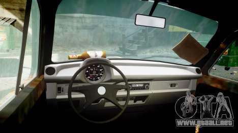 Volkswagen Beetle rust para GTA 4 vista hacia atrás