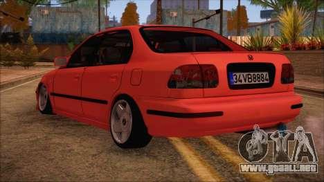 Honda Civic 34 VB 8884 para GTA San Andreas left