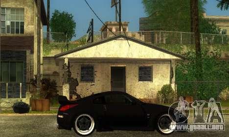 Nissan 350Z Drift para GTA San Andreas vista posterior izquierda