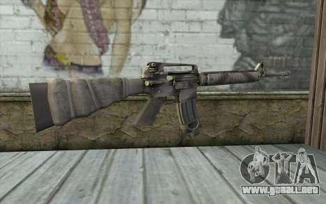 M16A4 from Battlefield 3 para GTA San Andreas segunda pantalla