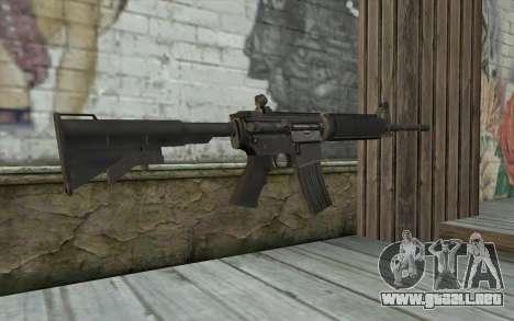 M4 de Francotirador Guerrero Fantasma para GTA San Andreas segunda pantalla