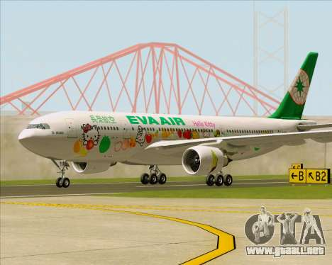 Airbus A330-200 EVA Air (Hello Kitty) para GTA San Andreas left