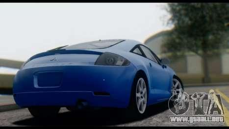 Mitsubishi Eclipse 2006 para GTA San Andreas vista hacia atrás