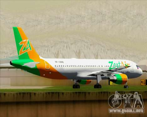 Airbus A320-200 Zest Air para la vista superior GTA San Andreas