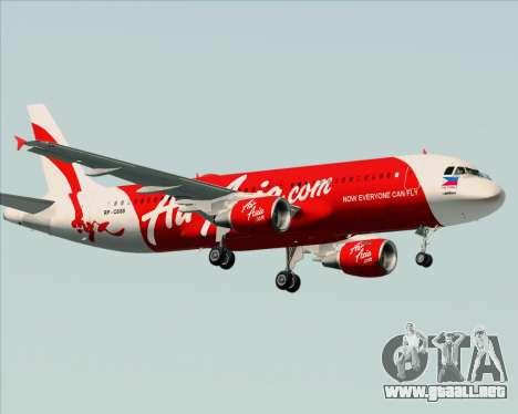 Airbus A320-200 Air Asia Philippines para la visión correcta GTA San Andreas