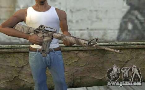M16A4 from Battlefield 3 para GTA San Andreas tercera pantalla