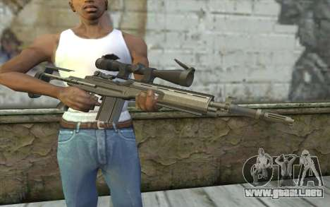 M14 EBR para GTA San Andreas tercera pantalla