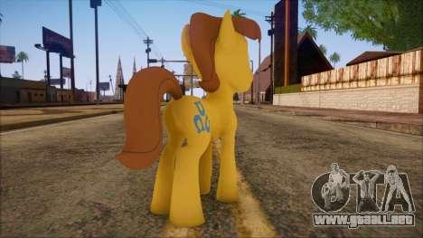 Caramel from My Little Pony para GTA San Andreas segunda pantalla