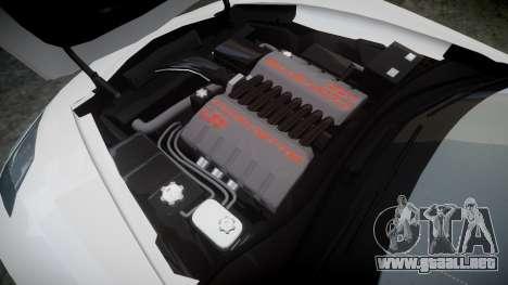 Chevrolet Corvette C7 Stingray 2014 v2.0 TireYA3 para GTA 4 vista lateral