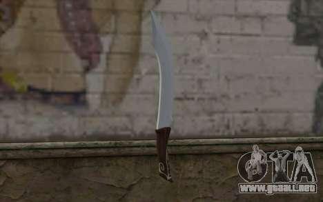 Cuchillo de acero para GTA San Andreas segunda pantalla