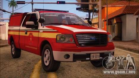 Ford F150 Fire Department Utility 2005 para GTA San Andreas