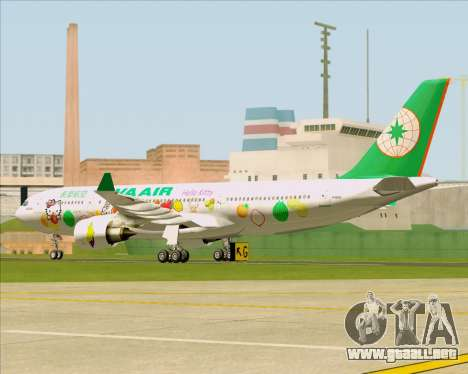 Airbus A330-200 EVA Air (Hello Kitty) para GTA San Andreas vista hacia atrás