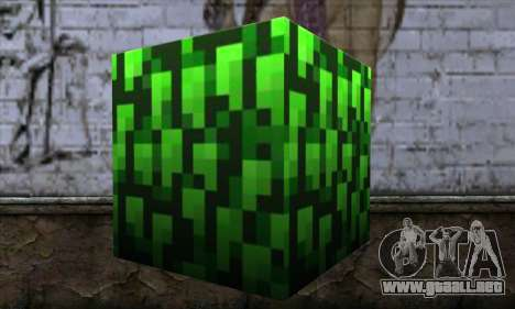 Bloque (Minecraft) v12 para GTA San Andreas segunda pantalla