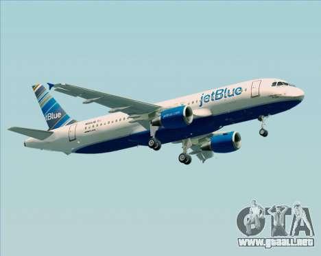 Airbus A320-200 JetBlue Airways para la visión correcta GTA San Andreas