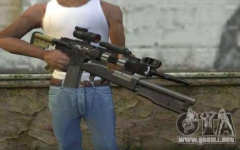 M4 MGS Aimpoint v3 para GTA San Andreas tercera pantalla