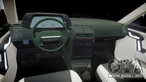 El USO de-2112 hobo para GTA 4 vista interior