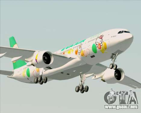 Airbus A330-200 EVA Air (Hello Kitty) para vista lateral GTA San Andreas