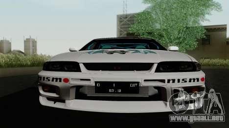 Nissan Skyline GT-R33 para la vista superior GTA San Andreas