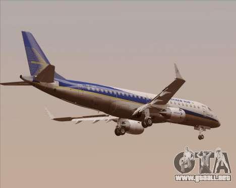 Embraer E-190-200LR House Livery para GTA San Andreas vista hacia atrás