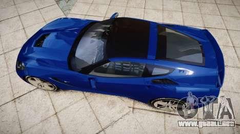 Chevrolet Corvette C7 Stingray 2014 v2.0 TireYA3 para GTA 4 visión correcta