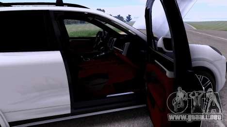 Porsche Cayenne Turbo S GTS 2015 para GTA San Andreas vista hacia atrás