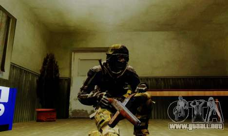 Weapon pack from CODMW2 para GTA San Andreas