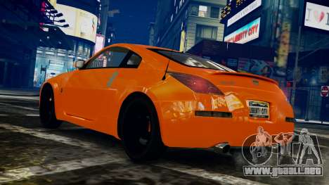 Nissan 350Z para GTA 4 left