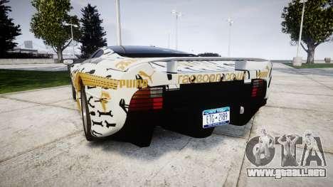 Jaguar XJ220 1992 [EPM] Gumball 3000 para GTA 4 Vista posterior izquierda